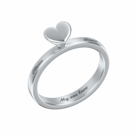 Classic Small Heart Ring
