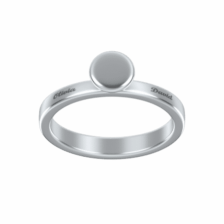Engraved Cup Ring