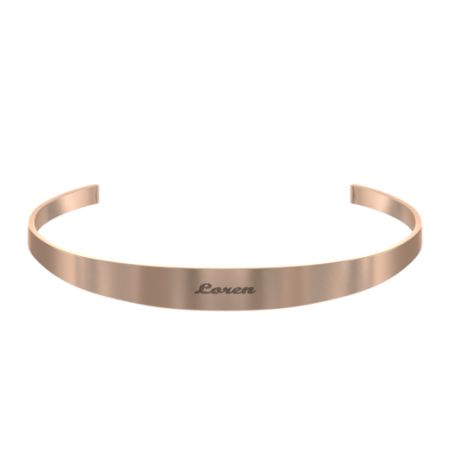 Classic Open Name Bangle
