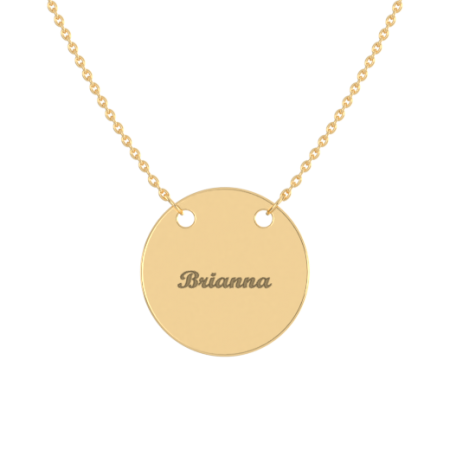 Engraved Disc Name Necklace