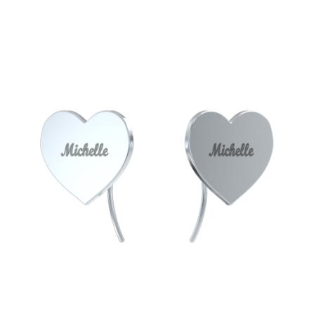 Heart Name Earrings