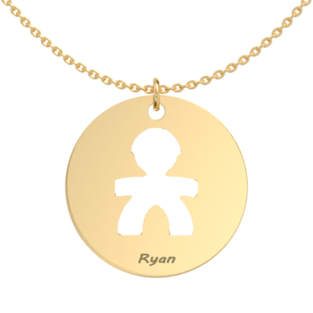 Big Boy Disc Necklace