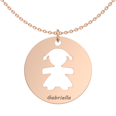 Big Girl Disc Necklace