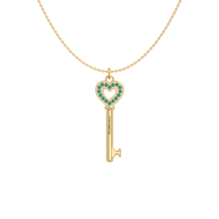 Heart and Key Necklace