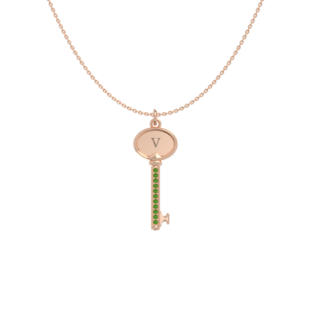 Initial Key Necklace