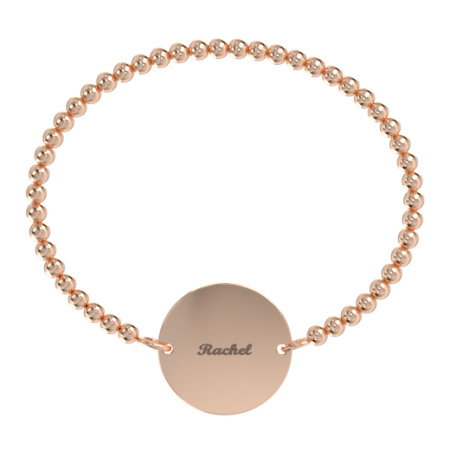 Stretch bead Disc Name Bracelet