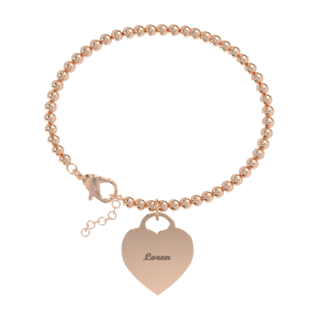 Heart bead Name Bracelet