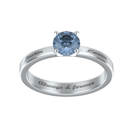 Solitaire Ring with Birthstone