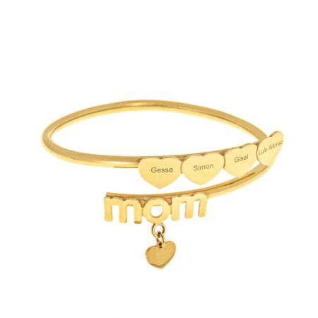 Flex Mum Bracelet with Hearts