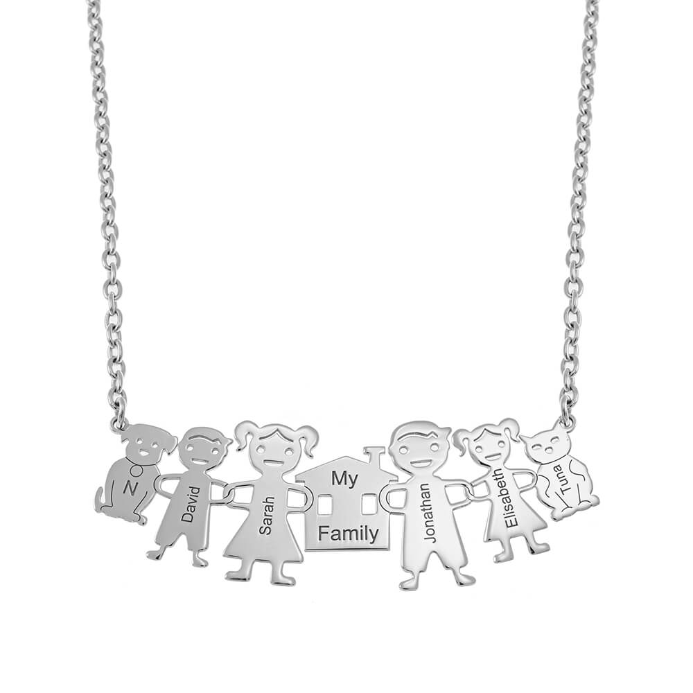 My Family Necklace silver