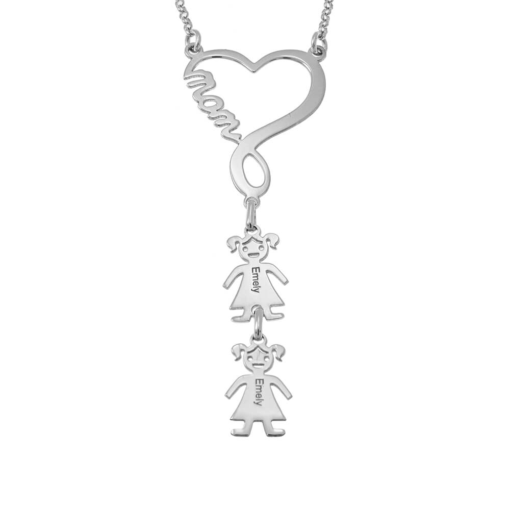 Infinity Heart Mum Necklace silver