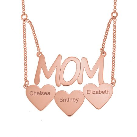 Mum Necklace with Hearts