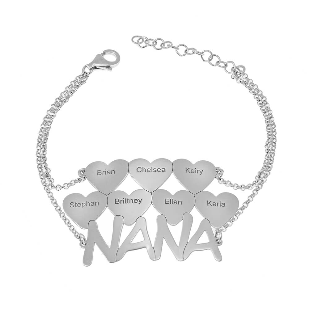 Nana Bracelet With Hearts silver