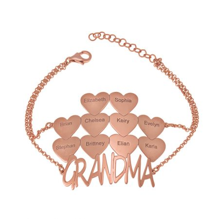 Grandma Bracelet with Hearts