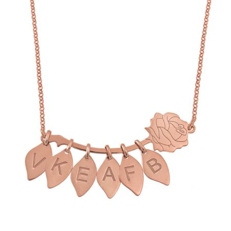 Rose Necklace with Leaves