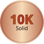10k solid rose