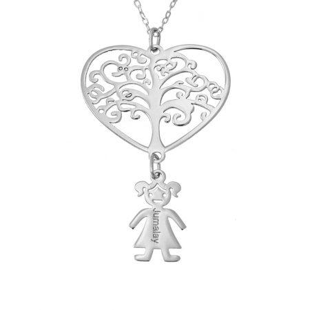 Tree Heart Necklace with Kids