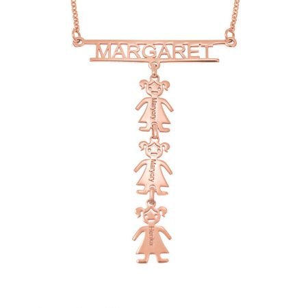 Cut Out Bar Name Necklace with Kids