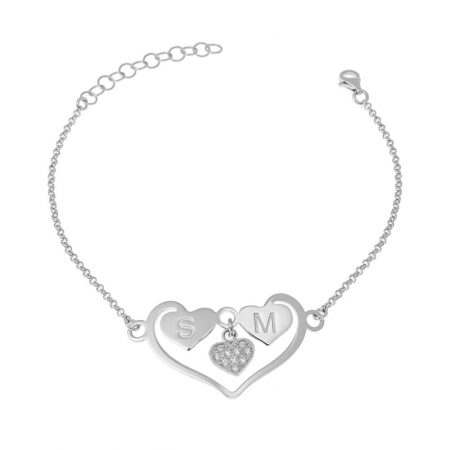 Heart Bracelet with initials