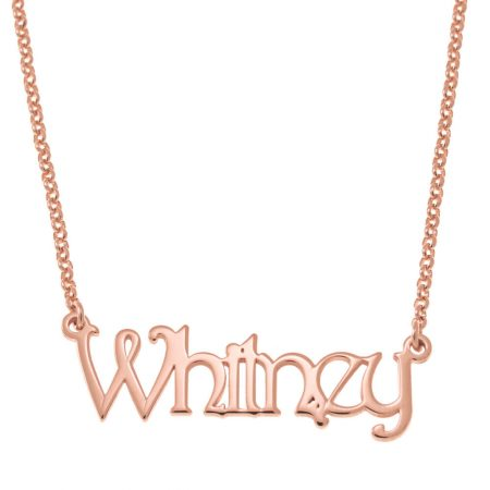 Harrington Font Name Necklace